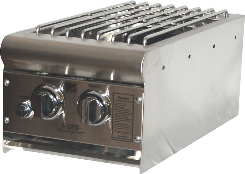 PFDLXDSB Double Side Burner Open