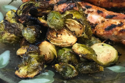 Grilled Balsamic Brussels Sprouts