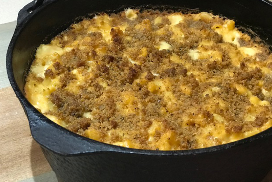 Smoked Mac & Cheese made on the grill