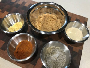 Sweet Rub for Grilled Chicken or Pork Ingredients